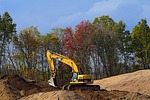 construction, machine, shovel