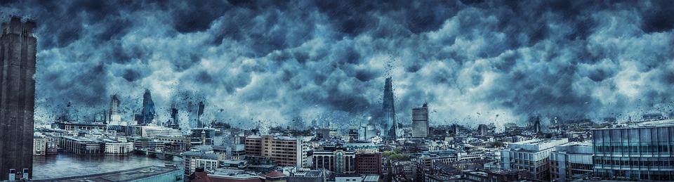 city during hurricane