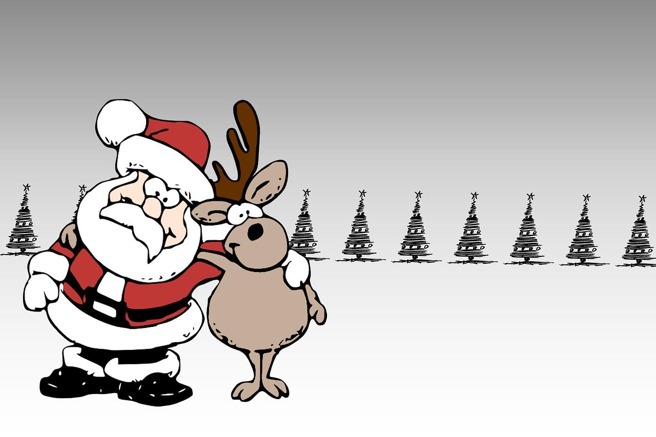 Санта клаус картинки мультяшные смешные