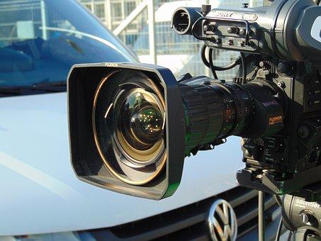 放送, テレビ, カメラ, 報道, ビデオ, ビデオカメラ, テレビカメラ