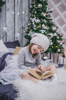 New Year'S Eve, Kids, Child With A Book