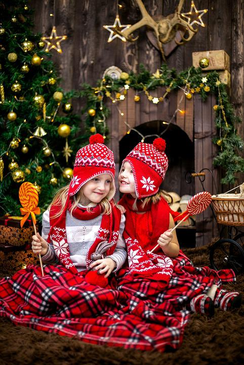 New Year'S Eve, Kids, Red, Caps, New Year Hats