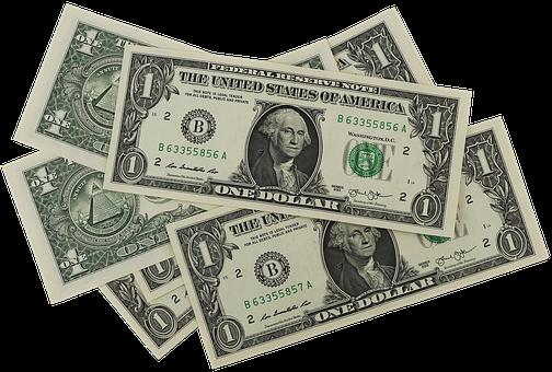 Dollar, 紙幣, 通貨, 外国為替, 紙のお金, ドル, 1ドル, 現金