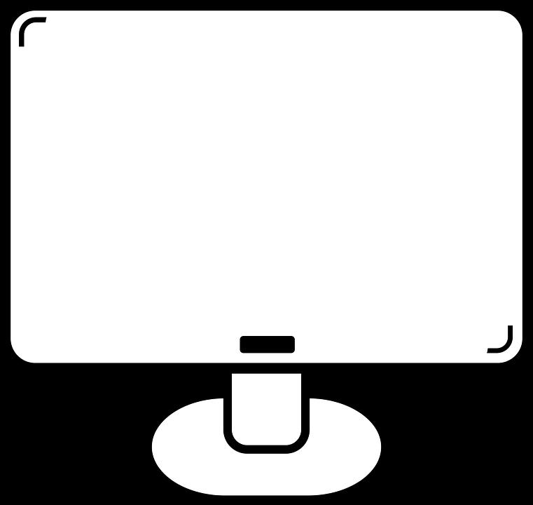 Jednoduche Monitor Kresba Vektorova Grafika Zdarma Na Pixabay