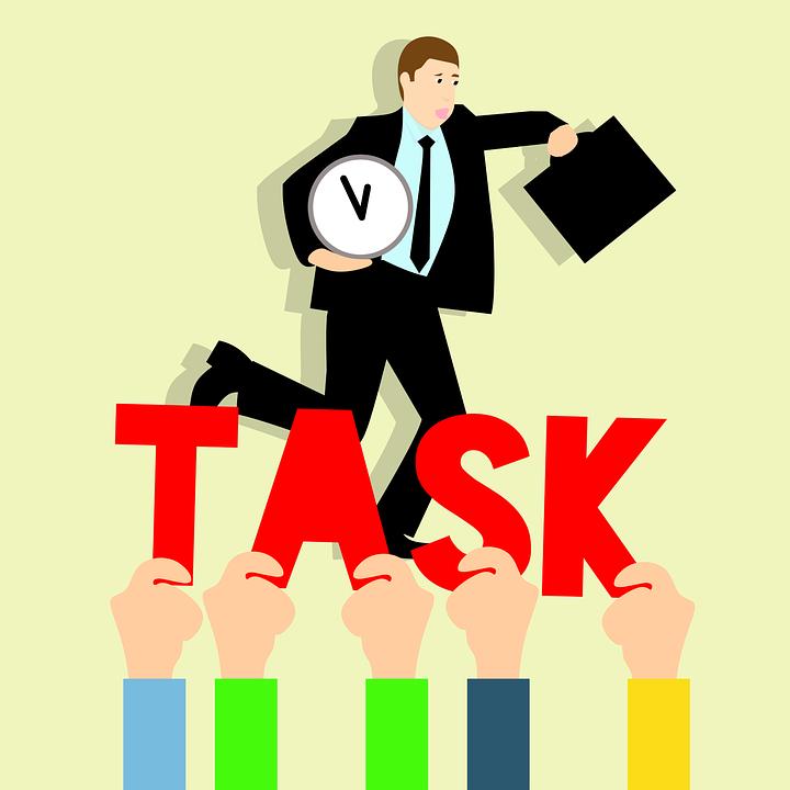 業務, 急いで作業, アイデア, 開催時計, 開催場合せ, 事業負荷, 予定時刻, タイムライン, 死線