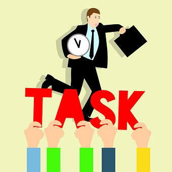 Business Tasks, Hurry Up To Work, Idea, Work Load