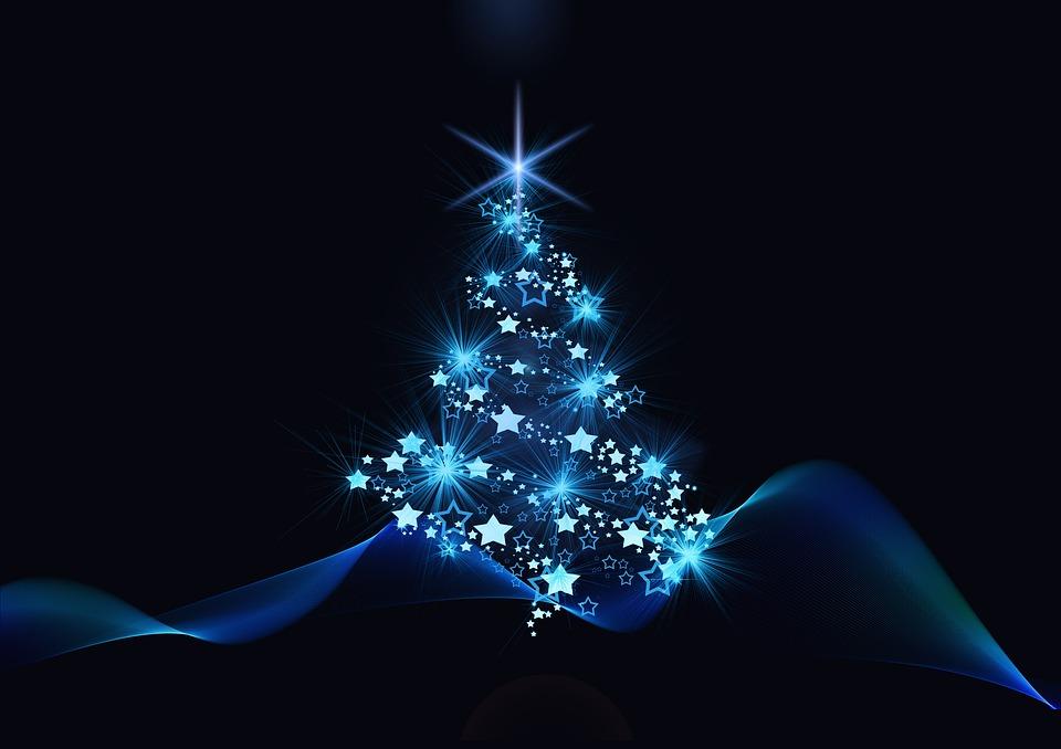 Weihnachten, Blau, Schwarz, Weihnachten-Motiv