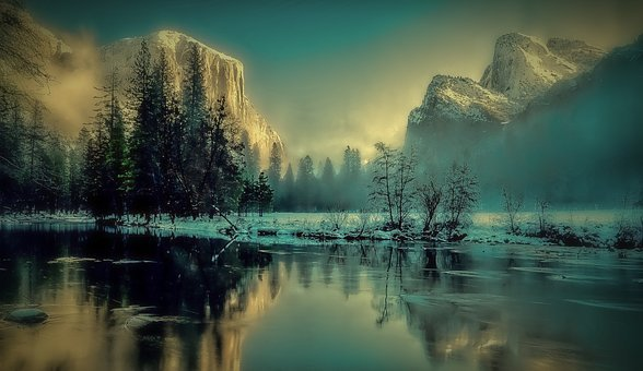Yosemite Park, Landscape, Sunrise