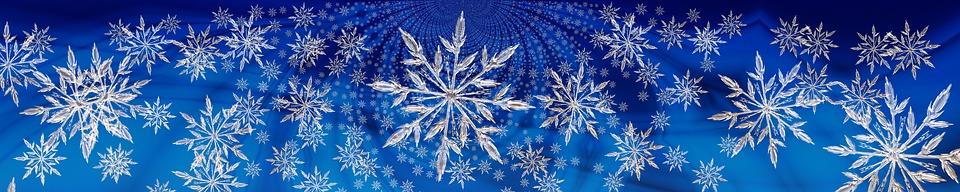 Weihnachten, Sterne, Schneeflocke, Banner, Header
