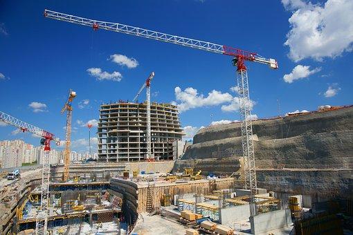 Construção, Edifício, Guindaste