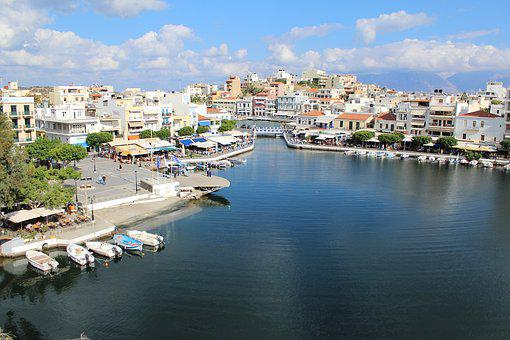 Crete, Lake Voulismeni, Water, Summer