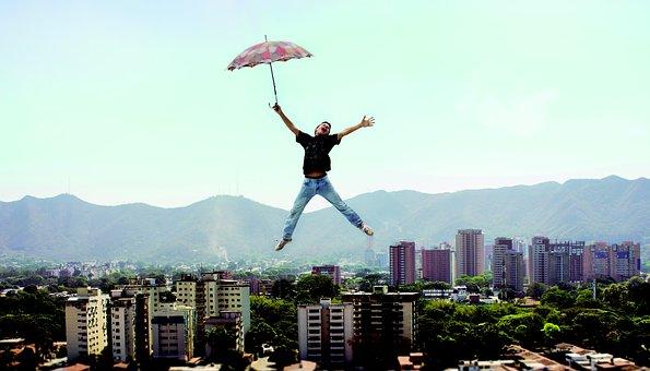 楽しい, 傘, シュールレアリズム