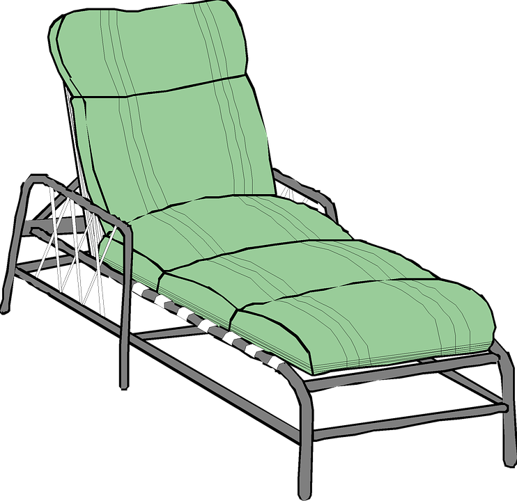 Couch Lounger Pool Relax Isolated Clip Art
