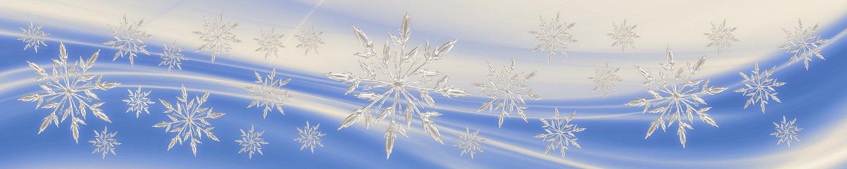 Karácsony, Star, Snowflake, Banner