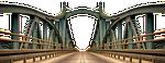 most, most stalowy, budynku