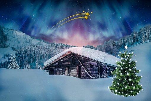 Joulu, Joulua Motif, Talvi, Revontulet