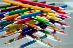 colored pencils, paint, school