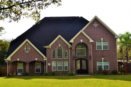 Brick House, Houston, Texas, Lawn, Paved