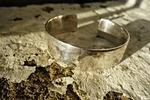 cuff, bracelet, silver