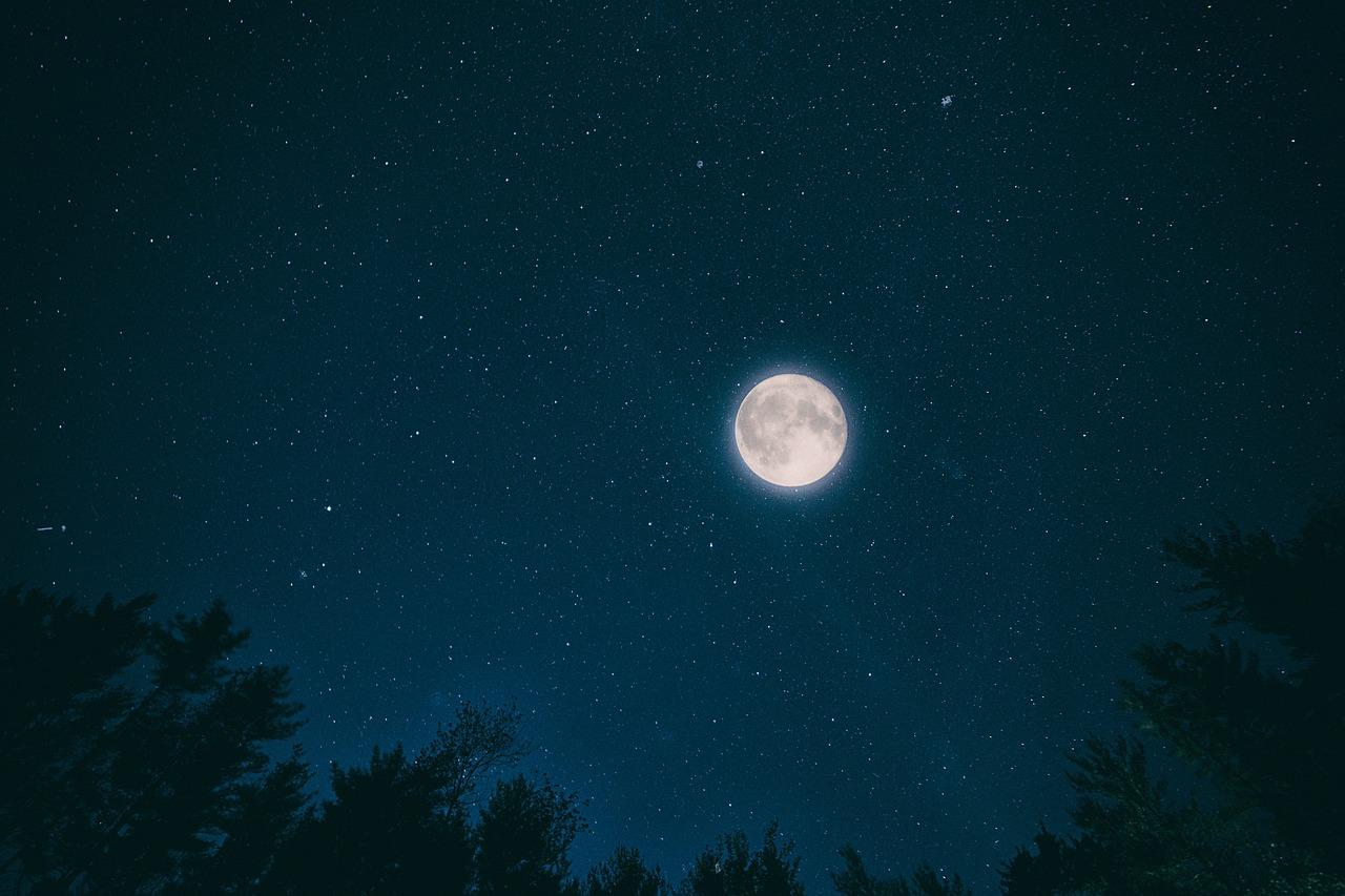 луна на звездном небе фото высокого разрешения мой знакомый живет