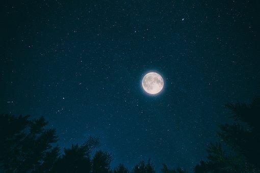 Night Sky Month Dark Nature Stars