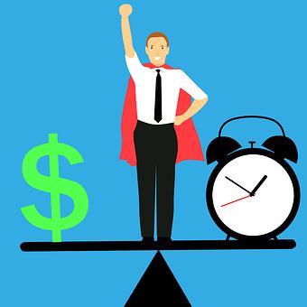 平衡, 时间和金钱, 理念, 英雄的公司, 员工, 智慧和强大的, 工作有效