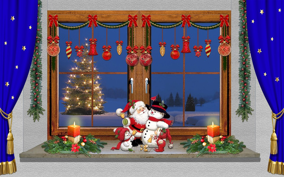 Weihnacht Fenster Dekoration Kostenloses Foto Auf Pixabay