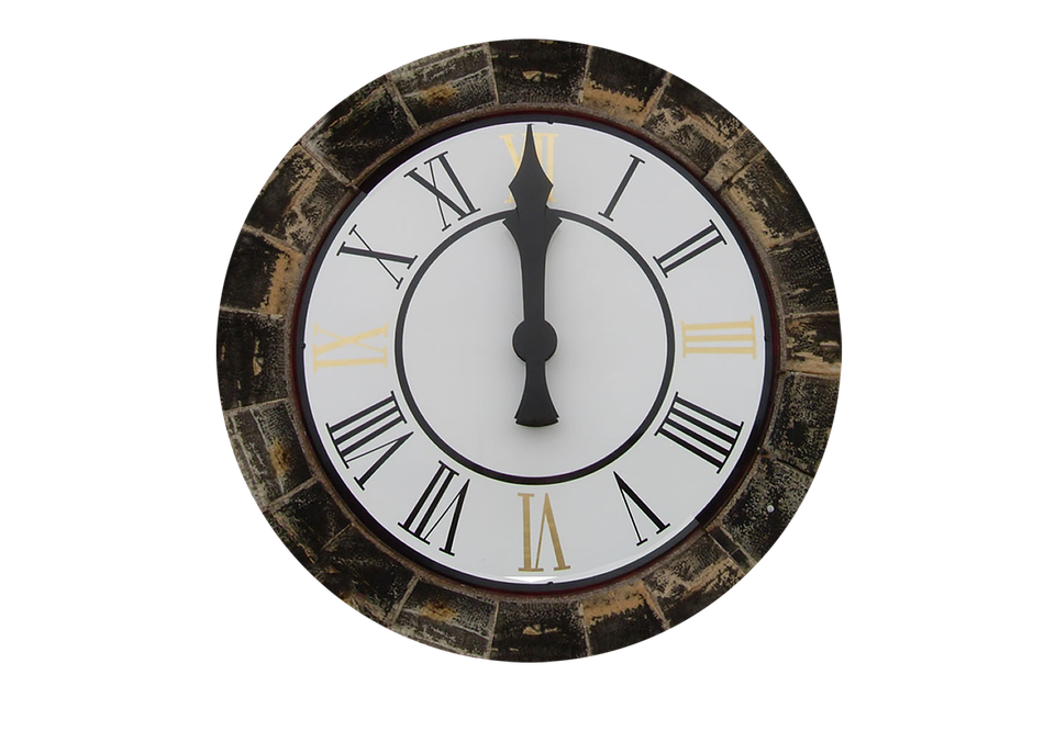 Clock Transparent Clock Tower Isolated 12 Ou0027clock