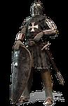knight, crusader, isolated
