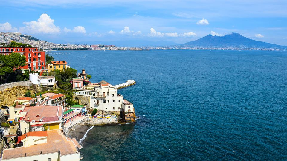 Italia, Napoli, Spiaggia, Acqua, Mare, Edificio