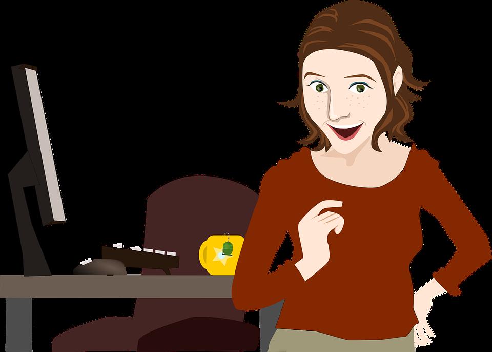 Büro frau clipart kostenlos  Büro Geschäft Arbeitnehmer - Kostenlose Vektorgrafik auf Pixabay