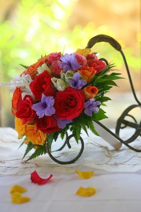 Blumenstrauss Blumen Bunte Kostenloses Foto Auf Pixabay