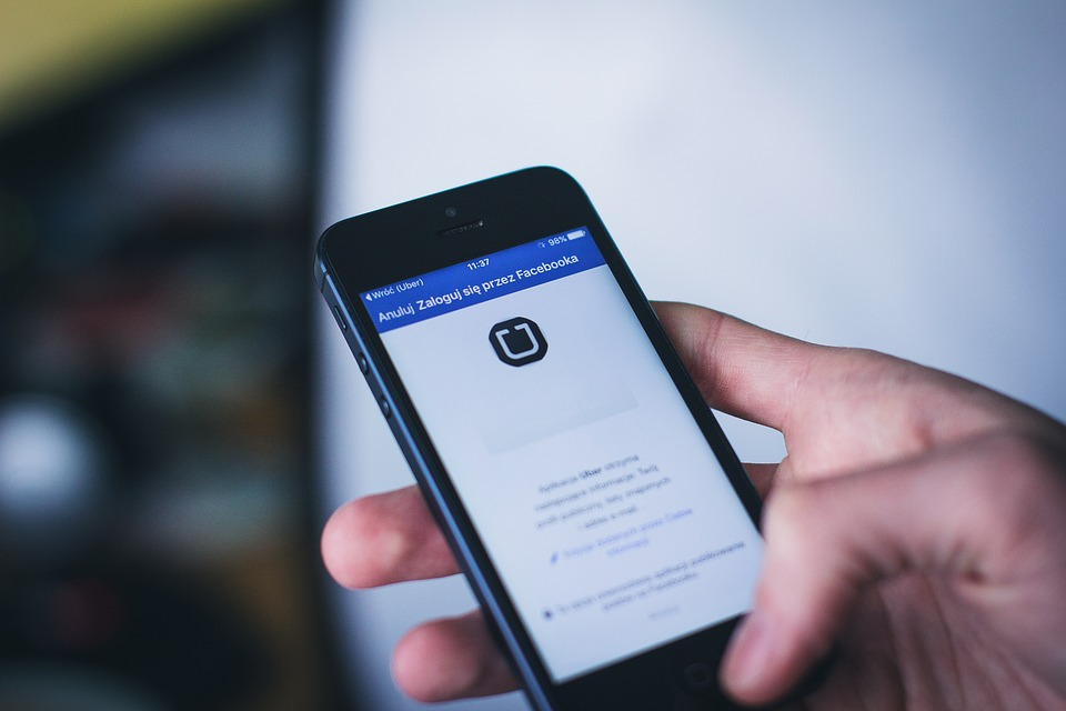 App, Apple, Facebook, Mão, Exploração, Ios, Iphone
