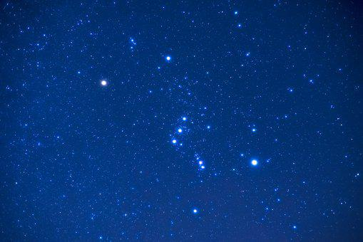 Orion, Night, Star, Constellation