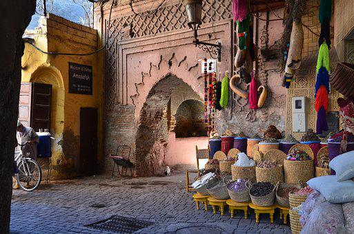Marrakech, Marruecos, Bazar, Oriental
