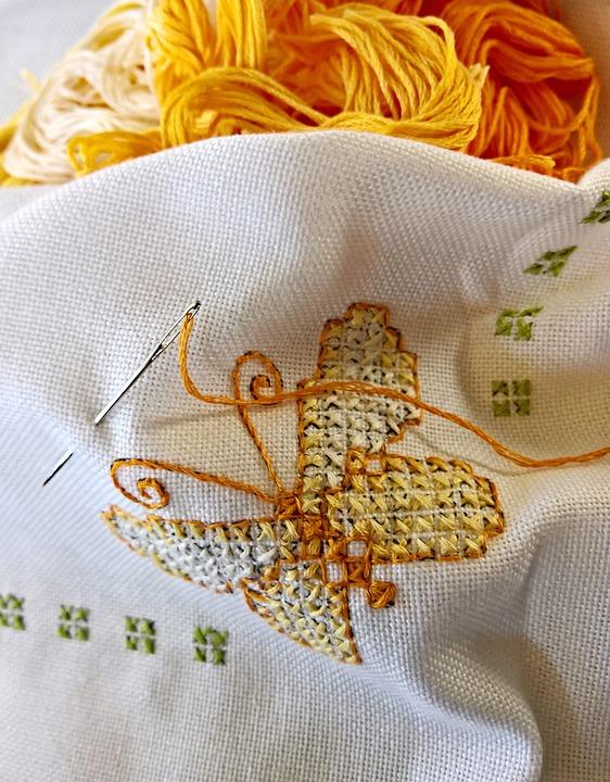 agulha para artesanato bordado