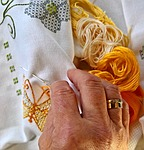 hand labor, embroidery