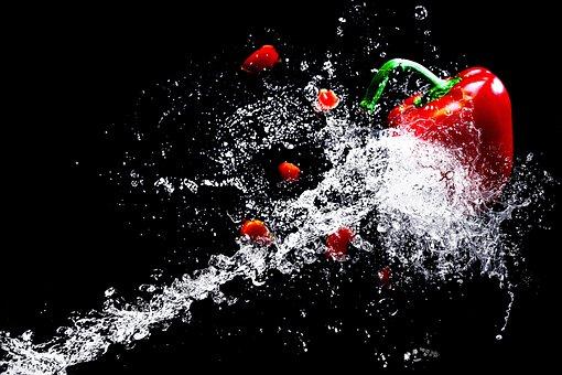 Água, respingos de água, alta velocidade