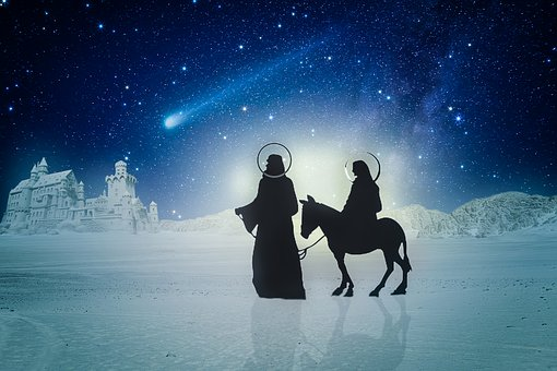 Josef, Joseph, Maria, Donkey