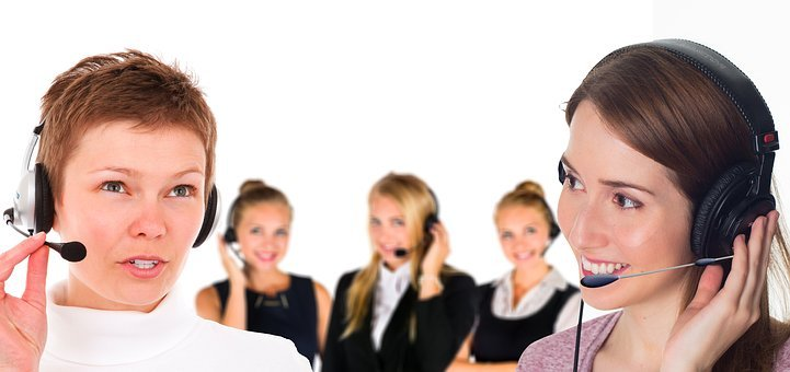 Call Center, Headset, Woman, Service