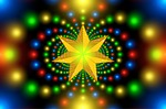 christmas star, fractal, symmetry