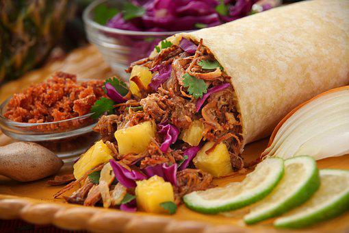 Grilled Pineapple Pork Burrito