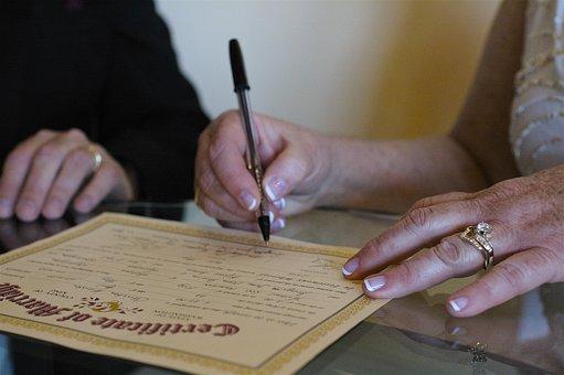De La Boda, Matrimonio, Certificado