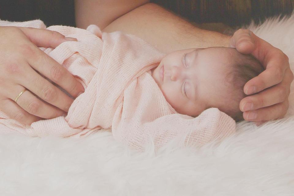 Neugebohrenes, Baby, Babyfotografie, Małych, Ładny