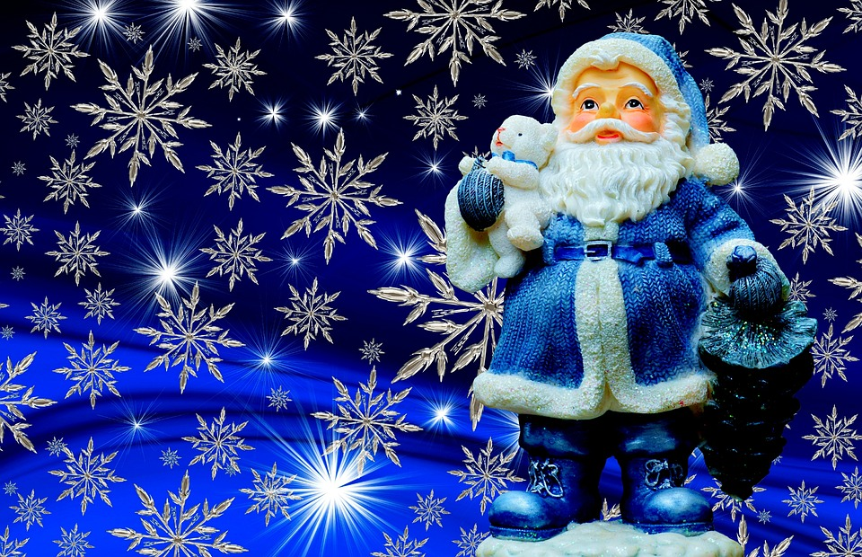 christmas santa claus blue color happy fixed - Christmas Santa Pictures