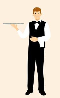 Cartoon Character, Waiter, Idea