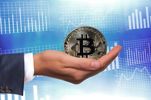 Bitcoin, Denaro, Regalo, Mano, Mantenere