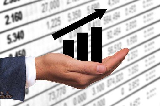 成功, 矢印, お金, 利益, 収益, 上昇, 成功曲線, 手, 維持, 現在