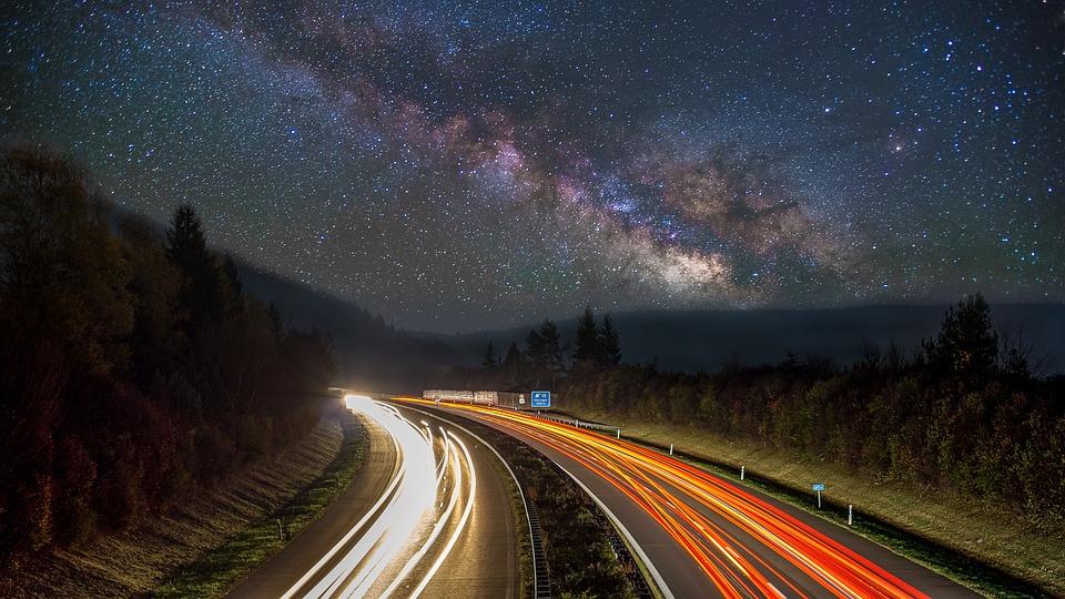 Droga Mleczna, Gwiazda, Niebo, Gwiaździsta Nieba, Noc