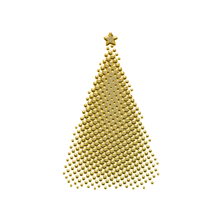 Ornament Decor Golden Christmas Jewelry